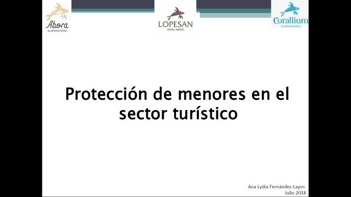 Protocolo de protección de menores en el sector turístico  del Grupo Lopesan